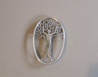 Tree Spirit Brooch or Pendant in Sterling Silver