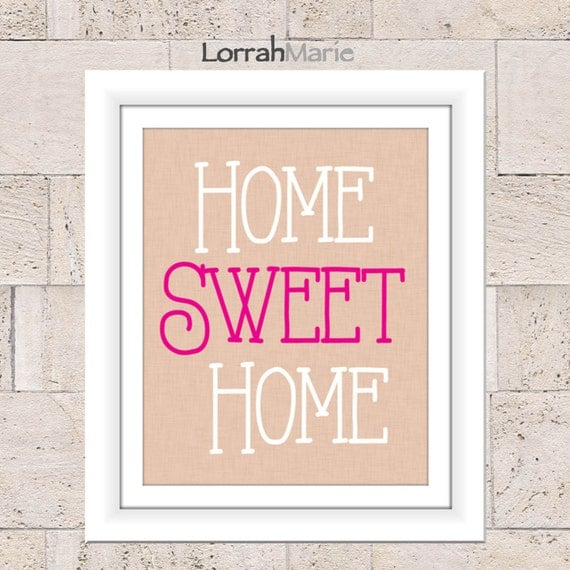Items similar to home sweet home wall art home decor Home sweet home wall decor