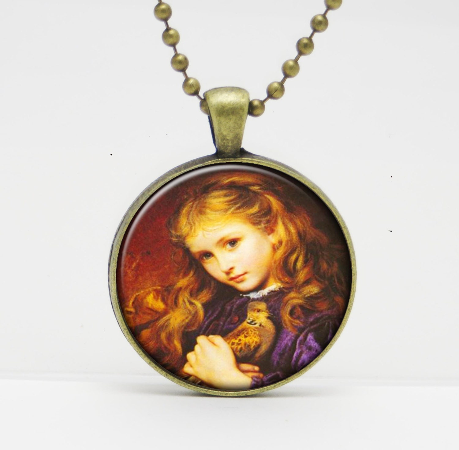 Turtle dove by sophie anderson art glass pendant or key for Anderson art glass