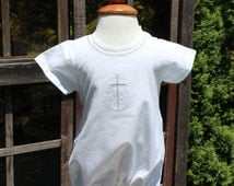 Boys Baptism outfit embroidered with cross