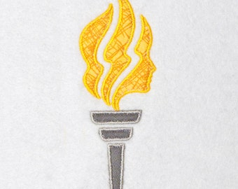 Applique Embroidery Design, LDS Young Women Torch, digital instant download file..