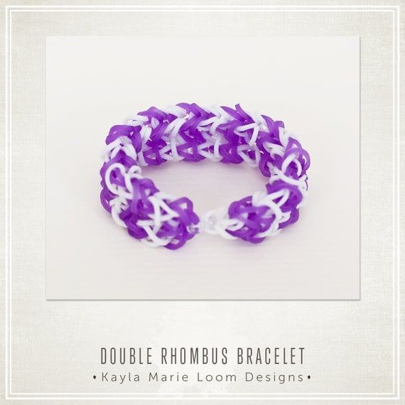 Items similar to Rainbow Loom Double Rhombus Bracelet ...