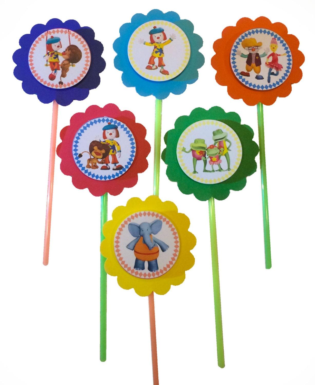 JoJo's Circus cupcake toppers Set of 12