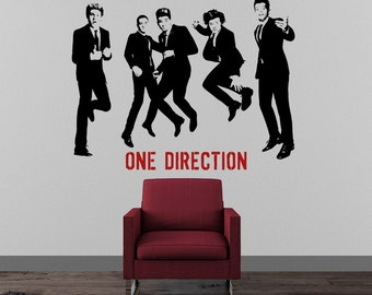 popular items for one direction decal on etsy. Black Bedroom Furniture Sets. Home Design Ideas