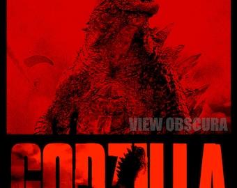 Godzilla 2014 - Godzilla's Rampage - Version A  -  Poster Print