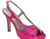 Hot Pink Bridesmaids Wedding High Heels Bridal Shoes Custom Colors
