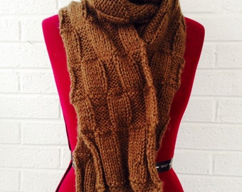 Brown Knit Scarf