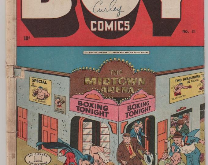 Boy Comics; Vol 1, 21 Golden Age Comic Book. GD/VG  April 1945.  Lev Gleason Publications.