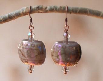 Ceramic & Copper Earrings