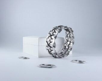 Gray Stretchy  Pop Tab Bracelet