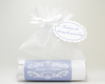 10 Wedding Favor Lip Balms: all natural, rich and creamy!