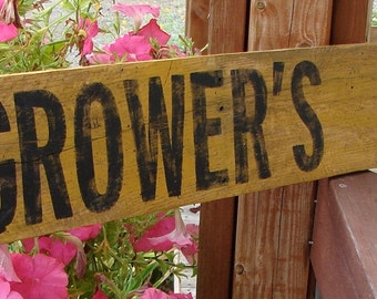 Growers Market sign