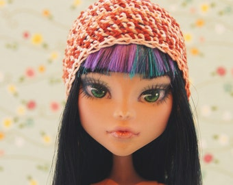 Monster! Handmade! Doll clothes — Knitted hat for dolls.