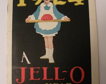 1924 A Jell-O Year Advertisement Cookbook The Genesee Pure Food Company, Illustrated by Lucille Patterson Marsh