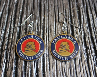 Paulaner München Munich Weizenbier - Beer Lover Earrings - Weize Guy, Weize Woman & Sheer Weizdom