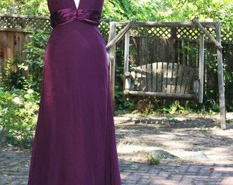Burgundi Halter Dress