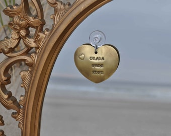 Drama Free Zone - Inspirational Handcrafted Metal Heart