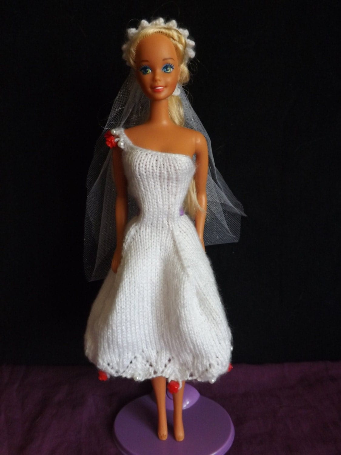 Knitting Clothes For Barbie Dolls : Knit barbie clothes dress by theyarnoverproject