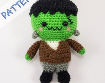 Crochet Amigurumi Pattern (PDF) - Frankenstein
