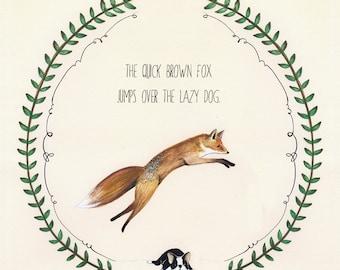 The Quick Brown Fox - 8.5x11 Print