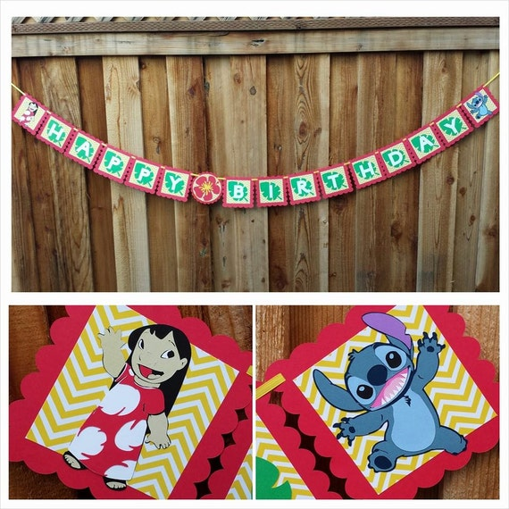 Lilo And Stitch Birthday Banner Lilo And Stitch Baby: Lilo And Stitch Inspired Banner Lilo And By SoleilsPapeterie