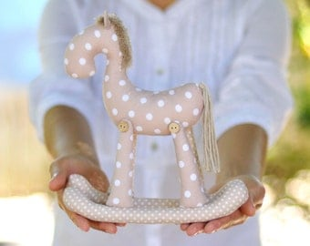 Rocking horse PDF soft toy sewing pattern plushie softie