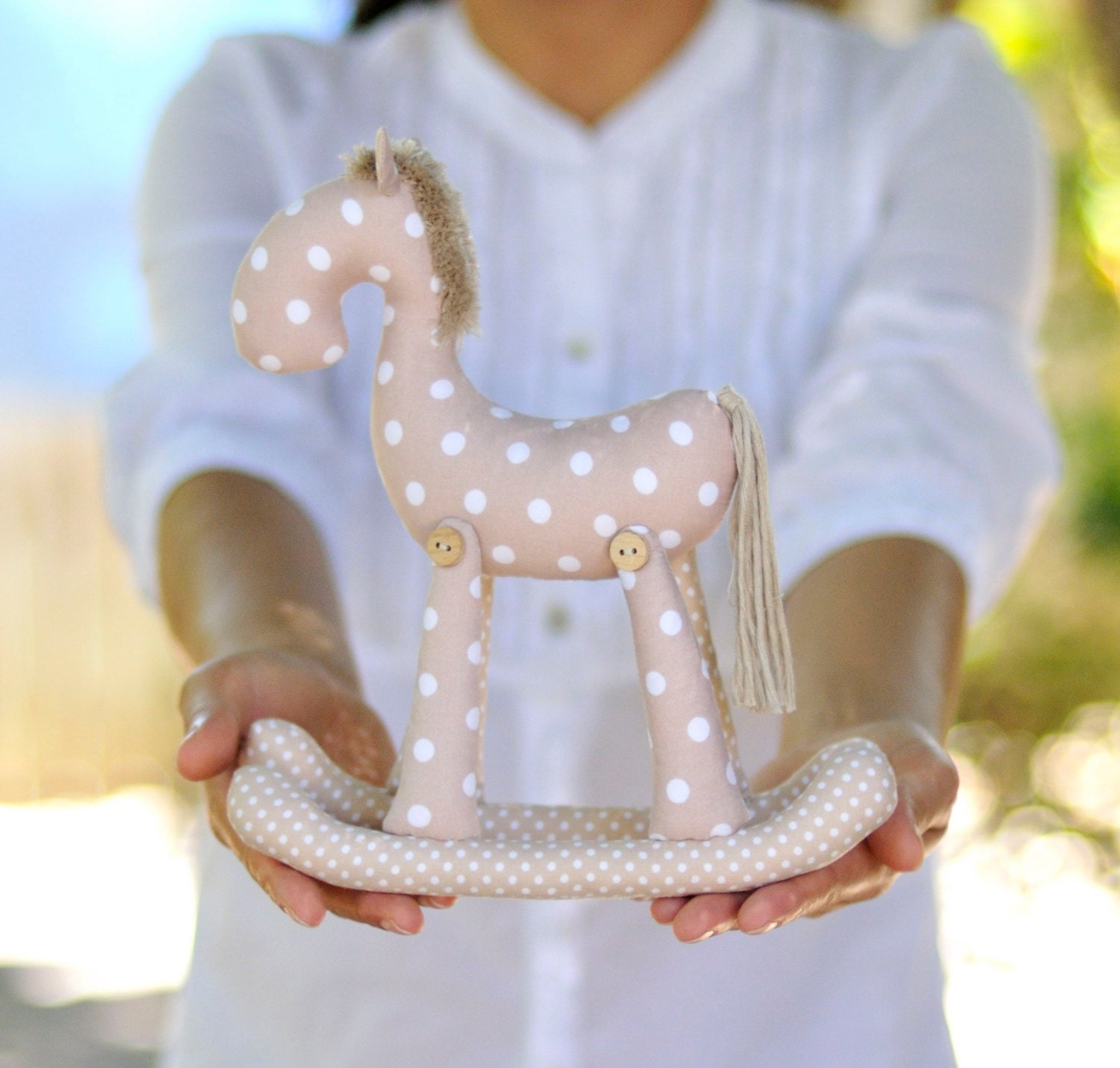 Soft Toy Patterns : Rocking horse pdf soft toy sewing pattern plushie softie