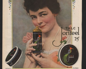 Original Ladies Home Journal ad for Jonteel Talc, Face Powder - beauty58