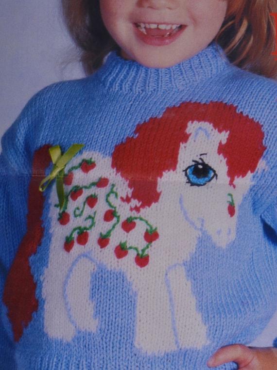 PDF my little pony jumper sweater kids strawberry fair vintage
