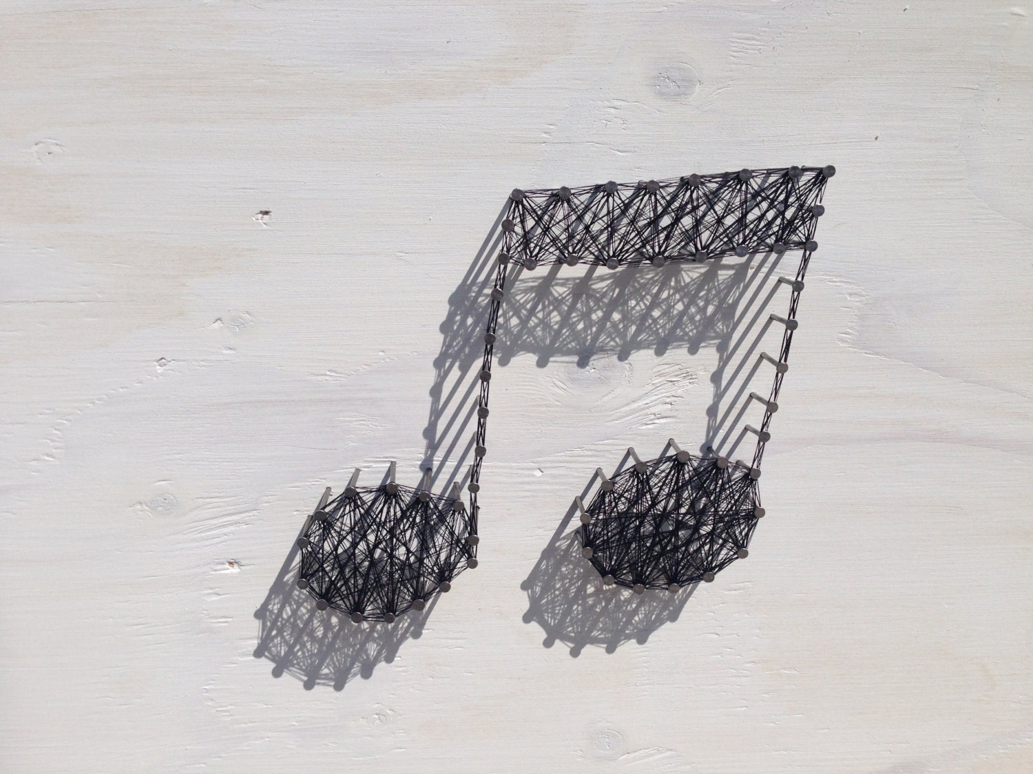 music note string art by stringheart on etsy. Black Bedroom Furniture Sets. Home Design Ideas