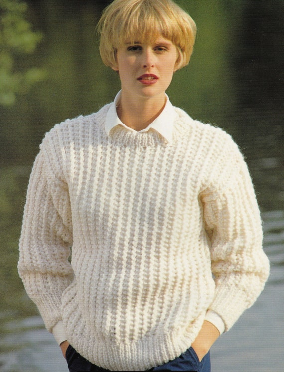 Knitting Pattern Jumper Ladies : Vintage Knitting Pattern Ladies Jumper 30-40 by LucysPatternBox
