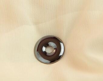 Donut - Hematite gemstone jewelry shiny