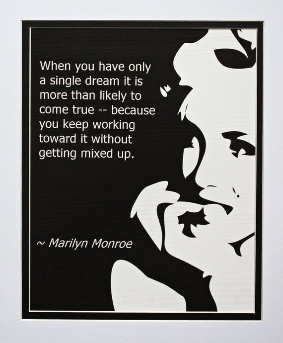 Items similar to Marilyn Monroe Quote Poster, Quotation ...