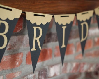 Gold Bride Wedding Shower Banner Black and Gold Bride Bridal Shower Banner can be personalized!