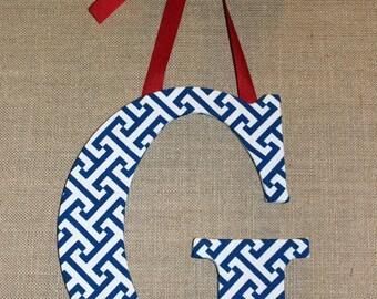 Customized Decorative Letter - Blue Zig Zag