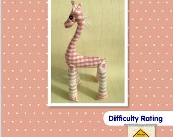 Giraffe Soft Toy Sewing Pattern.    Stuffed Animal