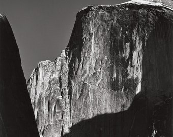 Moon and Half Dome, photograph by Ansel Adams, in various sizes