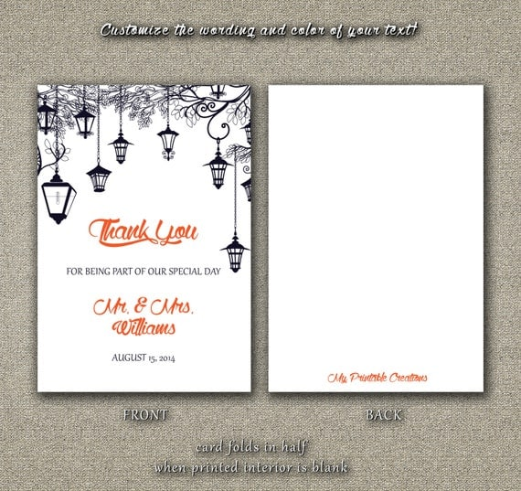 diy printable wedding thank you card pdf
