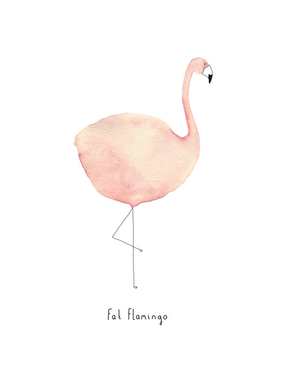 Postcard: Fat Flamingo!