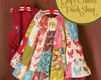 Girl's Charm Pack Skirt Sewing Pattern Download (803021)
