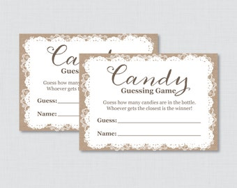 Guessing Game Etsy
