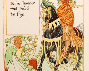Art Nouveau Colour Print, Original 1899 by Walter Crane: Ladies Mantle