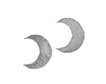 Crescent Moon I Rubber Stamp /moon stamp/ crescent stamp/ textile stamp/ pattern stamp/ moon rubber stamp/ crescent rubber stamp/