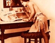 """Vintage Risque Nude Exotic - Boudoir #007 Canvas Art Poster 16"""" x 24"""""""