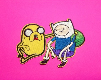 Iron on Sew on Patch:  Finn and Jake (Adventure Time)