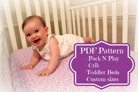 pack n play and crib sheet tutorial instant pattern all. Black Bedroom Furniture Sets. Home Design Ideas