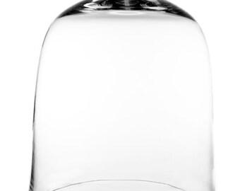 "Glass Bell Cloche. H-""12"", Interior Height - 9.5"" #GCL101"