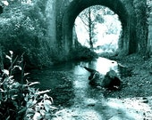 The Supremeness of Being - Camino de Santiago, Bridge River, Spain Landscape, Photo Print, Black White, Beautiful Decor, Nature Lover, Hiker