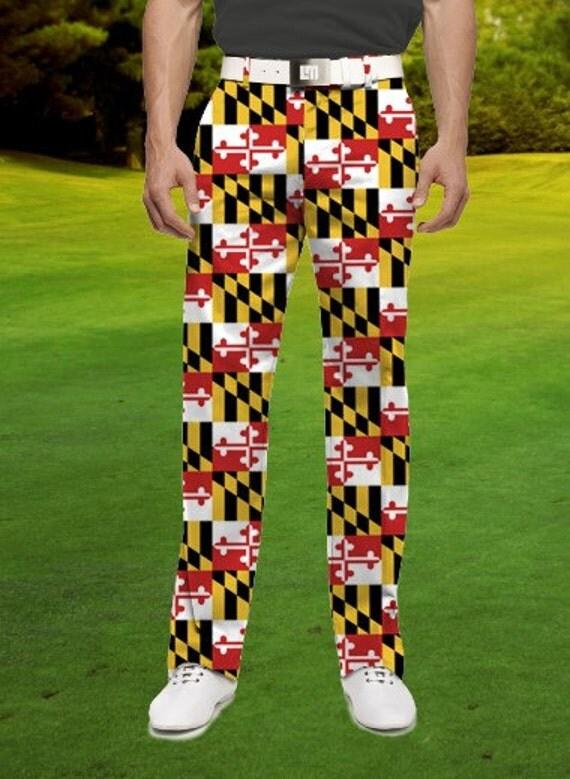 Maryland Flag Inspired Men's Golf Pants