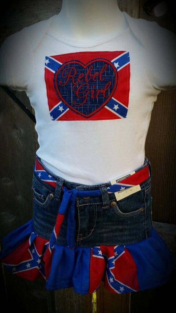Items similar to rebel confederate flag rebel flag dress for Rebel flag wedding dresses